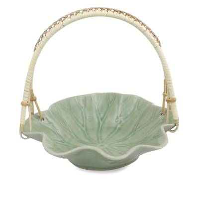 Celadon Ceramic Basket