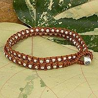 Braided wrap bracelet,