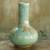 Celadon vase, 'Sky Blue Butterflies' - Classic Thai Glazed Celadon Vase Crafted by Hand (image 2) thumbail