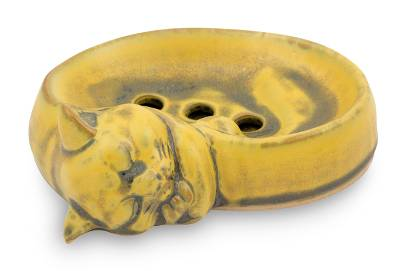Ceramic Soap Dish Artisan Crafted in Thailand