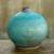 Ceramic vase, 'Turquoise Realm' (large) - Watertight Ceramic Vase Crafted by Hand (large) (image 2) thumbail