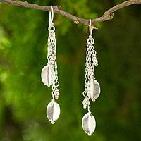 Silver waterfall earrings, 'Elegant Mystique' - Artisan Crafted Silver Earrings Thai Hill Tribe Jewelry