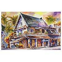 'Luang Prabang ll' - Original Watercolor Painting