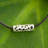 Men's sterling silver necklace, 'Forest Whisper'