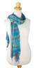 Silk scarves, 'Turquoise Polka Dots' (pair) - Women's Scarves Hand Spun Silk (pair) thumbail