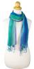 Silk scarves, 'Blue Fantasy' (pair) - Fair Trade Hand Spun Silk Scarves (Pair) (image 2b) thumbail