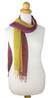 Silk scarves, 'Wine Fantasy' (pair) - Women's Scarves Hand Spun Silk (pair) (image 2a) thumbail