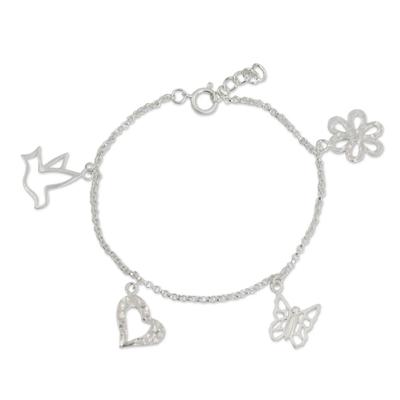 Handmade Sterling Silver Charm Bracelet