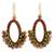 Smoky quartz and jasper dangle earrings, 'Flirty Earth' - Crocheted Smokey Quartz and Jasper Earrings (image 2a) thumbail