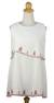 Cotton blouse, 'Layers in White' - Embroidered Cotton Sleeveless Blouse (image 2a) thumbail