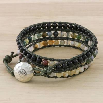 Multi-gemstone wrap bracelet, The Season
