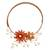 Carnelian and cultured pearl flower necklace, 'Orange Sonata' - Carnelian and Pearl Flower Necklace (image 2a) thumbail