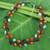 Carnelian and garnet beaded necklace, 'Sweet Ivy' - Artisan Crafted Multi-gemstone Necklace thumbail