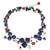 Lapis lazuli and aventurine choker, 'Blue Clover' - Handmade Lapis Lazuli and Aventurine Floral Necklace (image 2a) thumbail
