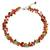 Carnelian and peridot beaded necklace, 'Heaven's Gift' - Thai Handmade Carnelian Necklace with Peridot Clusters (image 2a) thumbail