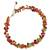 Carnelian and peridot beaded necklace, 'Heaven's Gift' - Thai Handmade Carnelian Necklace with Peridot Clusters (image 2b) thumbail