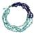 Lapis lazuli beaded necklace, 'Rivers of Blue' - Handcrafted Lapis Lazuli Necklace Thai Beaded Jewelry (image 2b) thumbail