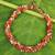 Carnelian and rose quartz beaded necklace, 'Tropical Glam' - Artisan Crafted Necklace Carnelian and Rose Quartz thumbail