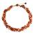 Carnelian and rose quartz beaded necklace, 'Tropical Glam' - Artisan Crafted Necklace Carnelian and Rose Quartz (image 2a) thumbail