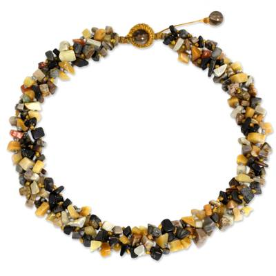 Artisan Crafted Necklace Jasper Beaded Jewelry