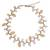 Cultured pearl and rose quartz beaded necklace, 'Sweet Peach Ivy' - Artisan Crafted Pearls and Rose Quartz Necklace (image 2a) thumbail