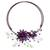 Amethyst and aventurine flower necklace, 'Lilac Sonata' - Amethyst and Aventurine Flower Necklace (image 2a) thumbail