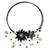 Onyx and cultured pearl flower necklace, 'Black Sonata' - Handcrafted Onyx and Pearl Choker Necklace (image 2a) thumbail