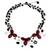Onyx and cultured pearl flower necklace, 'Blossoming Feast' - Onyx and Pearl Beaded Necklace (image 2a) thumbail