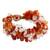 Carnelian and rose quartz beaded bracelet, 'Tropical Glam' - Artisan Crafted Bracelet Carnelian and Rose Quartz (image 2a) thumbail