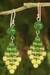 Quartz and peridot dangle earrings, 'Seasonal Bloom' - Thai Quartz and Peridot Earrings thumbail