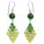 Quartz and peridot dangle earrings, 'Seasonal Bloom' - Thai Quartz and Peridot Earrings (image 2a) thumbail