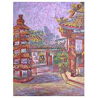'Pung Tao Kong' - Chinese Thai Temple Signed Fine Art