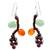 Garnet and carnelian dangle earrings, 'Bright Ivy' - Thai Handcrafted Gemstone Earrings (image 2a) thumbail