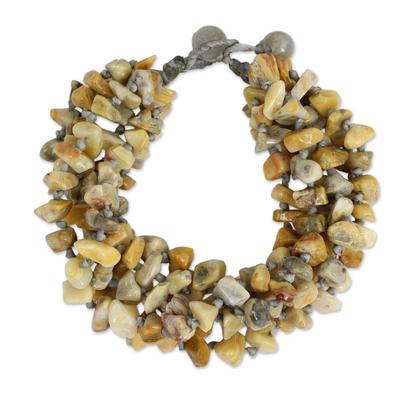 Enhanced Jasper Torsade Bracelet Artisan Crafted Jewelry