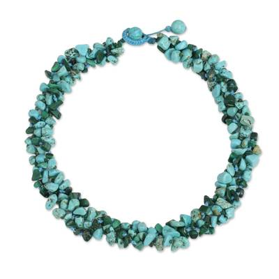 Malachite Calcite Necklace Handcrafted Jewelry