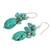 Gemstone cluster earrings, 'Aqua Feast' - Handmade Thai Calcite Cluster Earrings (image 2b) thumbail