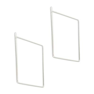 Artisan Crafted Sterling Silver Saquare Earrings