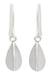 Sterling silver dangle earrings, 'Quartered Leaf' - Thai Silver Earrings (image 2a) thumbail
