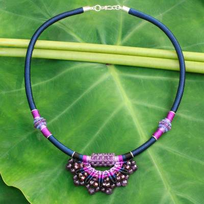 Amethyst collar necklace, Star of Nan