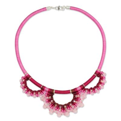 Handcrafted Rose Quartz Macrame Necklace