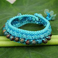 Amazonite wristband bracelet,