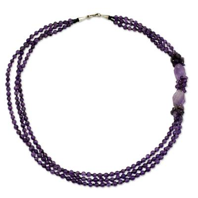 Amethyst Beaded Necklace from Thailand