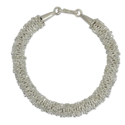 Fine Silver Beaded Bracelet
