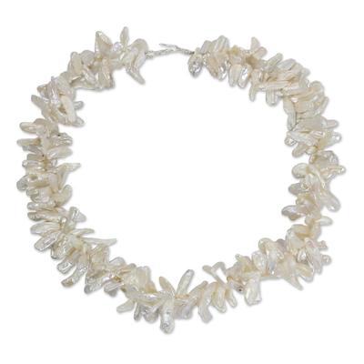 Handcrafted Pearl Torsade Necklace
