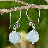 Aquamarine dangle earrings,