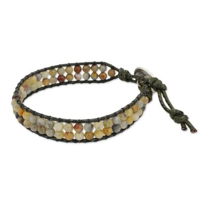 Thai Jasper Beaded Wristband