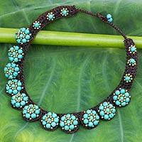 Beaded flower necklace,
