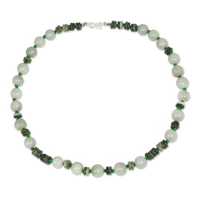 Handmade Green Jade Necklace