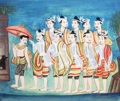 Northern Thai Temple Art Painting
