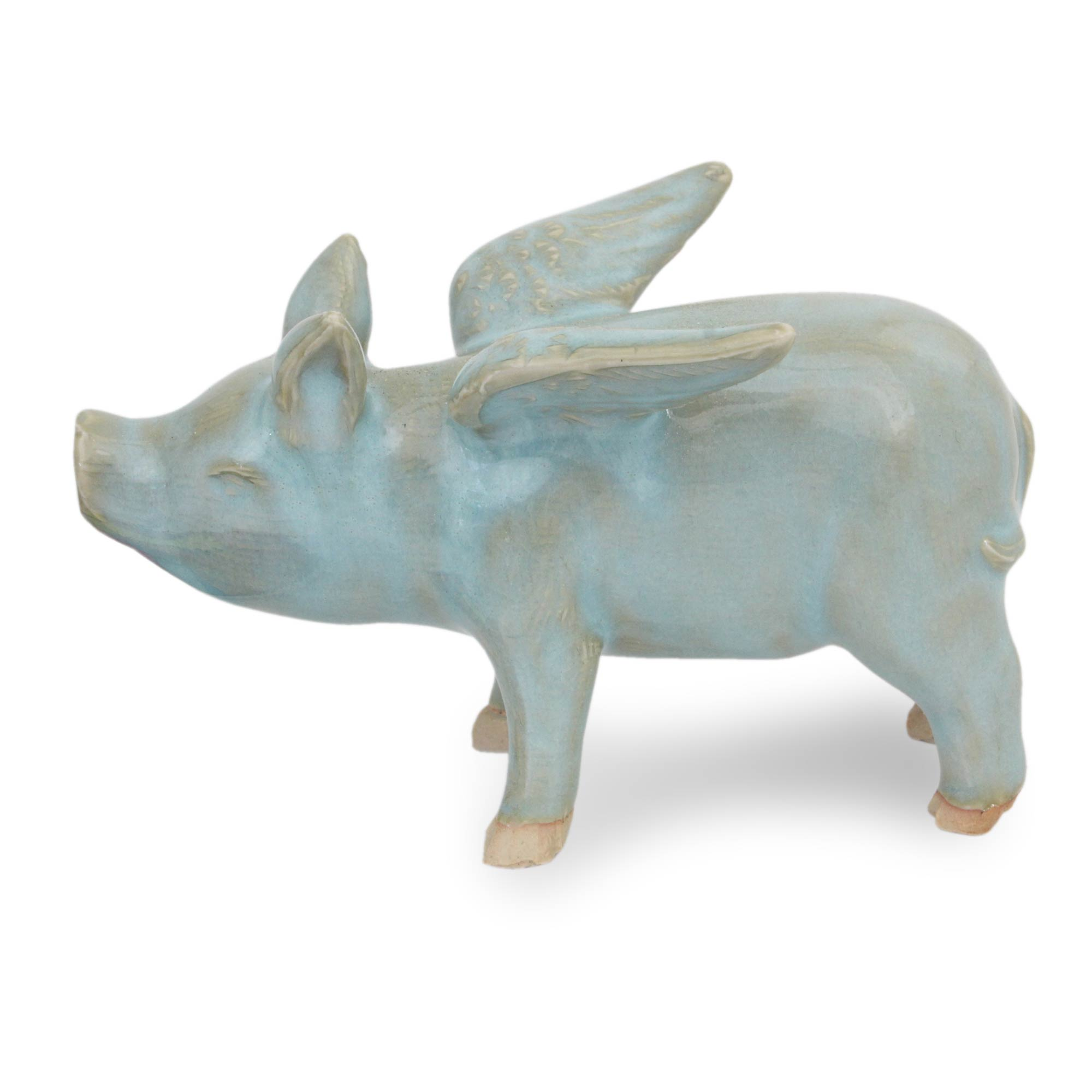 unicef market original handcrafted ceramic pig with wings